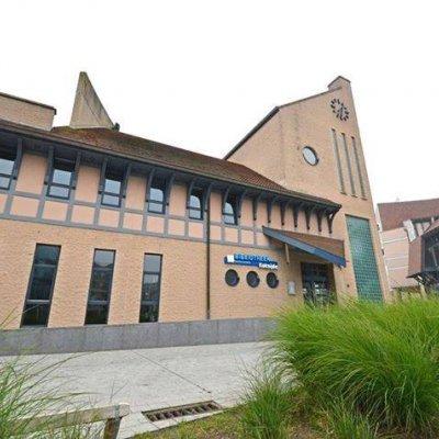 Het bibliotheekgebouw van Koksijde