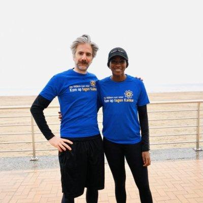 Jeroom en Elodie zijn peter en meter van deze 100km run