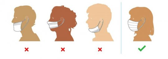 mondmasker correct dragen