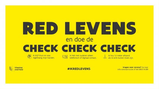 Ik red levens: check check check