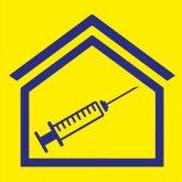 pictogram vaccinatiecentrum wegwijzer auto