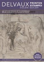 """Affiche expo Paul Delvaux """"Een Introspectieve blik met de crayonmanier"""""""