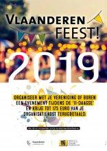Affiche Vlaanderen Feest! cheques voor buurtinitiatieven
