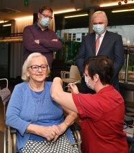 eerste vaccin in Koksijde