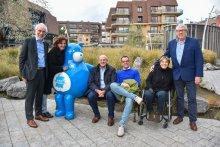 Schepenen Guido Decorte, Dorine Geersens, Dirk Dawyndt, Lander Van Hove, Stéphanie Anseeuw en Ivan Vancayseele