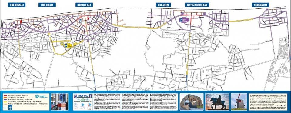 Overzicht zones betalend parkeren Koksijde