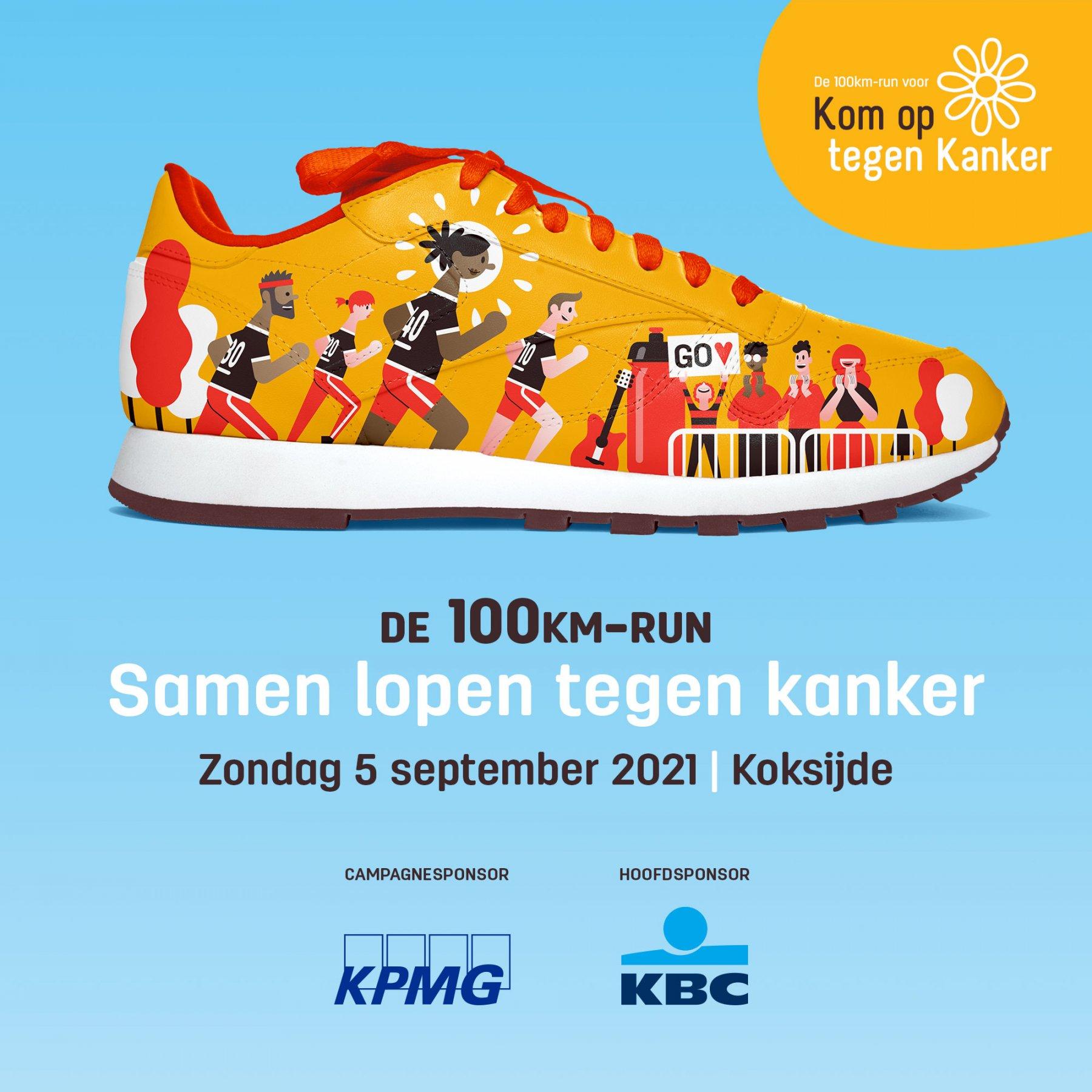 100 km run - Kom op tegen Kanker