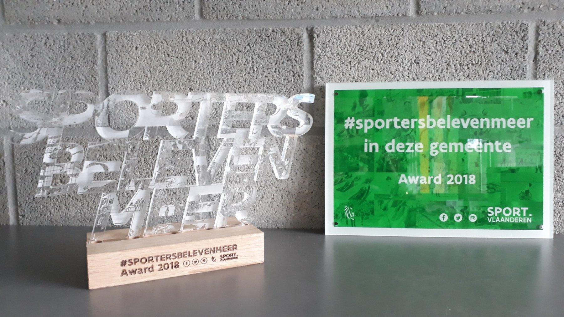 Award sportersbelevenmeer