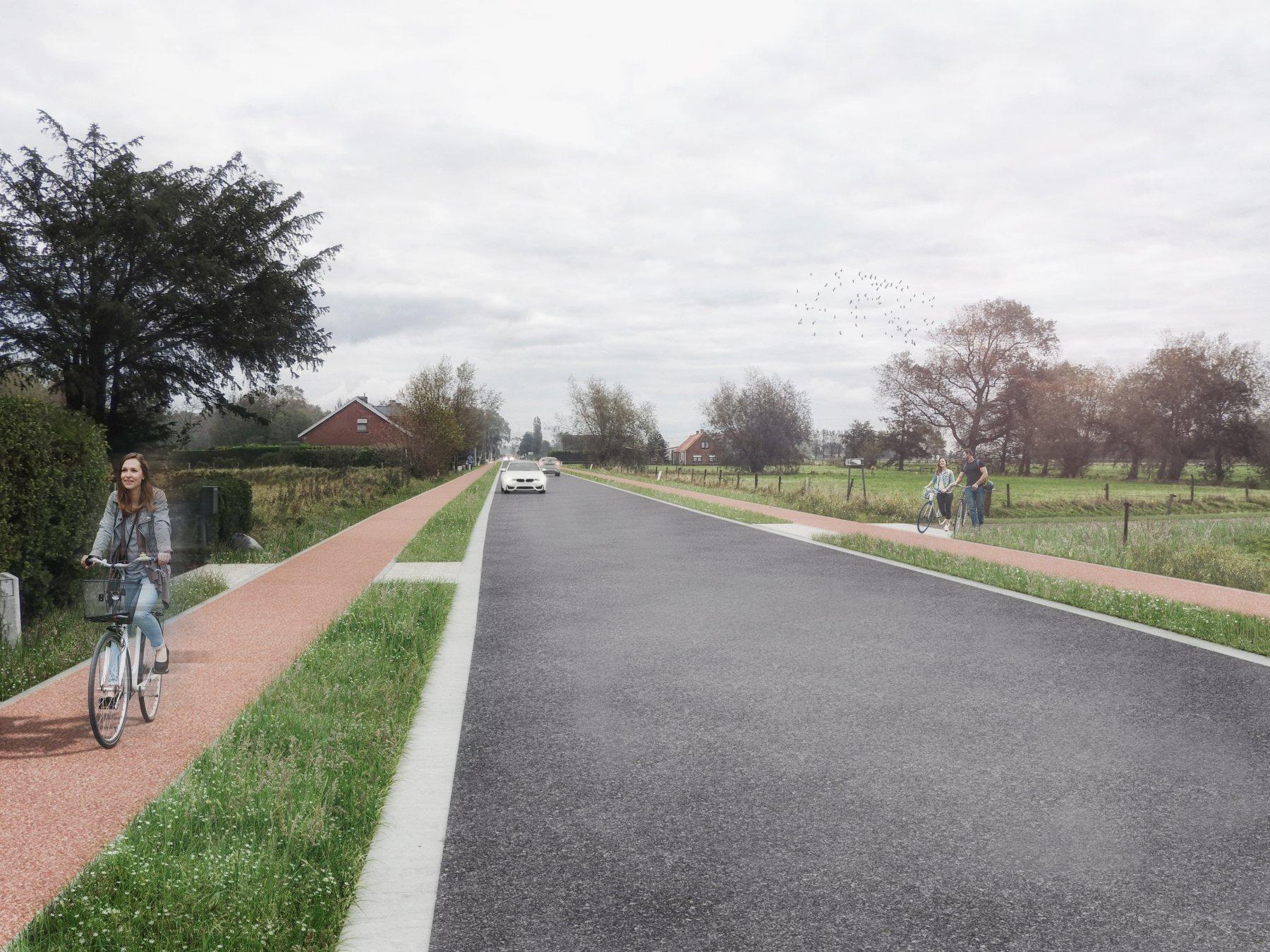 Facelift voor de Nieuwpoortsteenweg met veilige fietspaden
