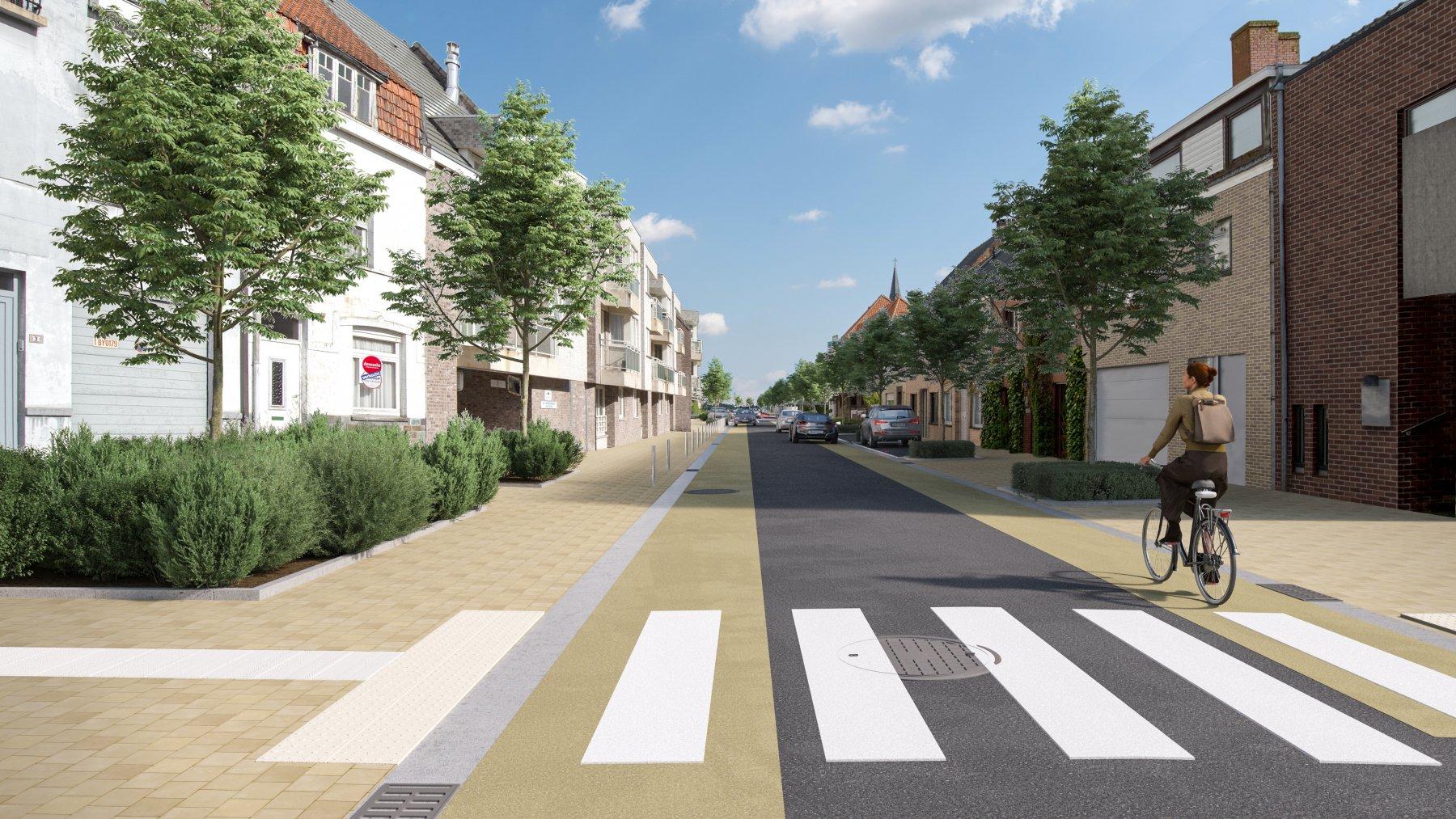 De verfraaiing van Koksijde-Dorp wordt verdergezet met de herinrichting Kerkstraat
