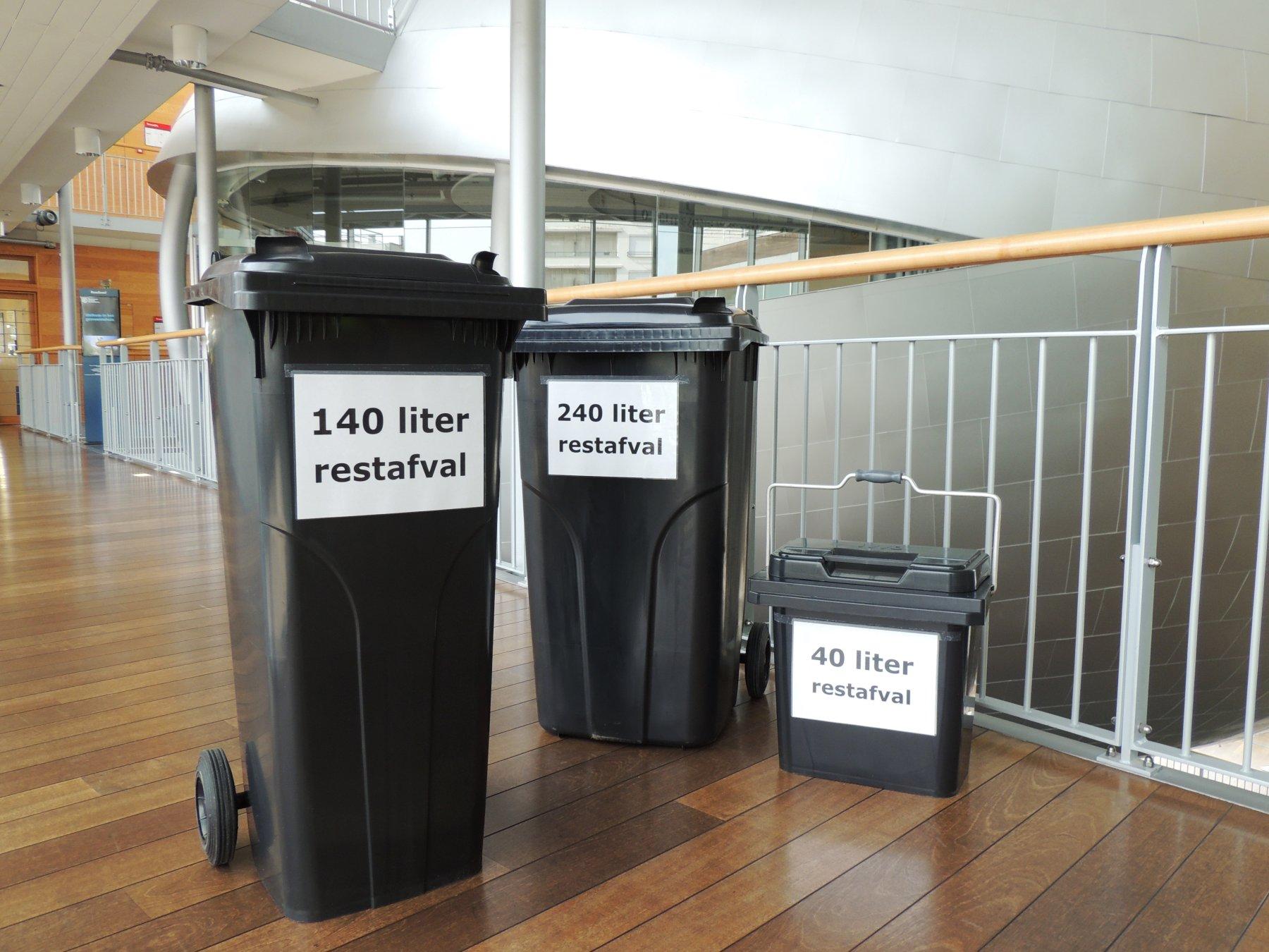 Rolcontainers voor huishoudelijk afval
