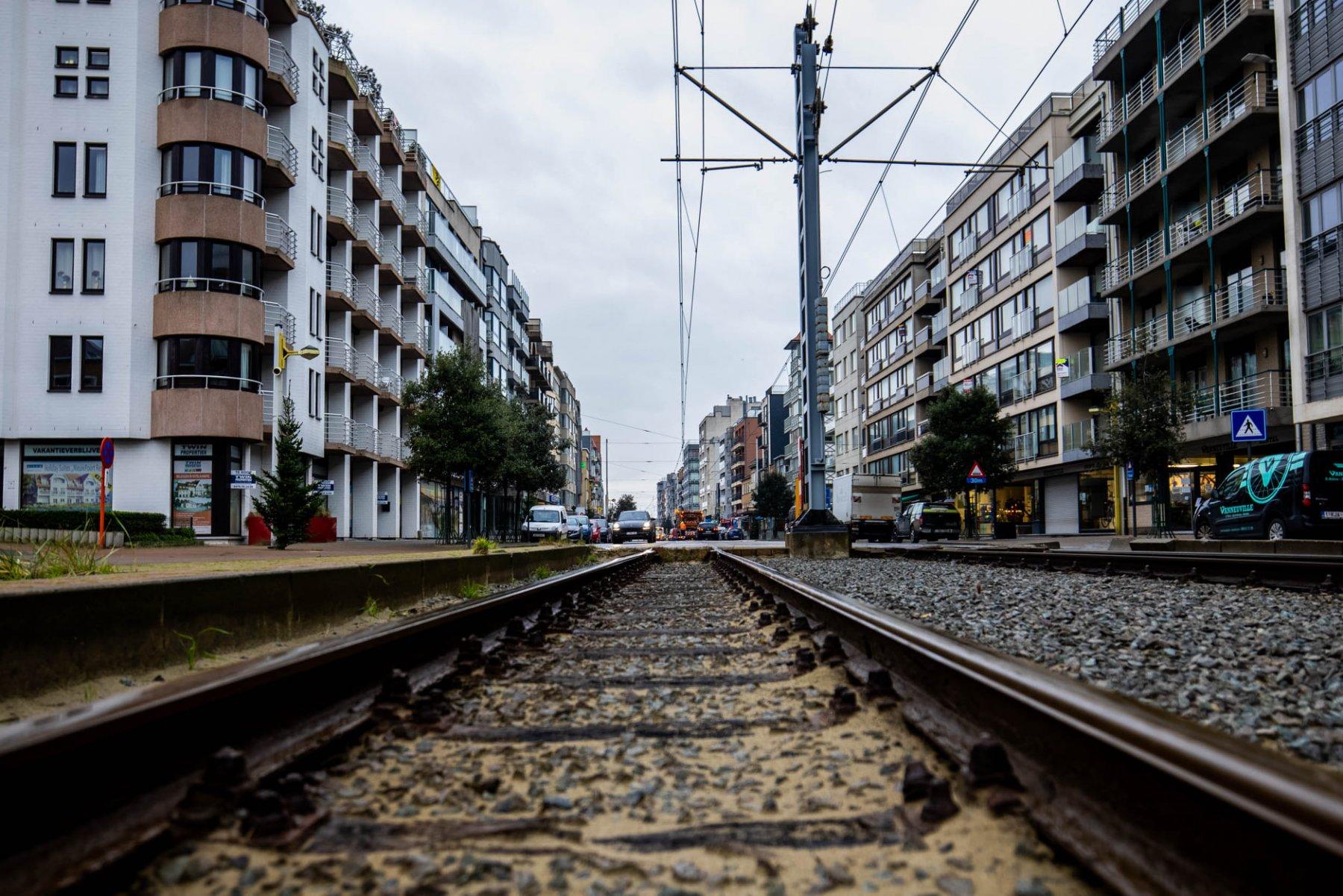 tramsporen Oostduinkerke-Bad